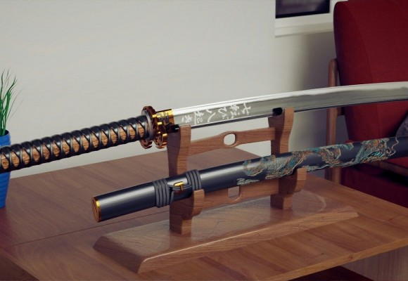 Cómo es una katana o espada japonesa